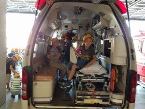 救急車に乗ったよ