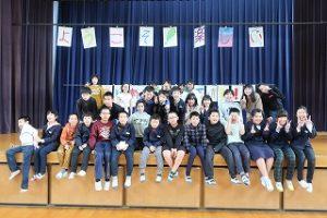 3校で記念写真